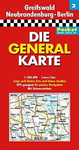 9783829721080: Generalkarte Deutschland Pocket 03. Greifswald, Neubrandenburg, Berlin