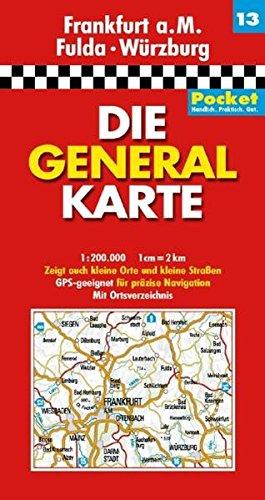 9783829721189: Generalkarte Deutschland Pocket 13. Frankfurt a.M., Fulda, Würzburg