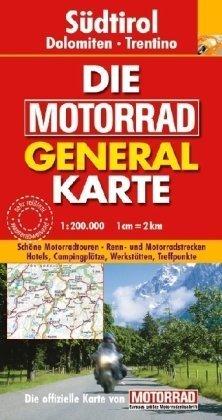 9783829721547: Die Motorrad Generalkarte Österreich. Südtirol, Dolomiten, Trentino: Schöne Motorradtouren. Renn- und Motorradstrecken. Hotels, Campingplätze, Werkstätten, Treffpunkte
