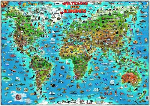 9783829721592: MAIRDUMONT Weltkarte für Kinder plano 137 x 97cm