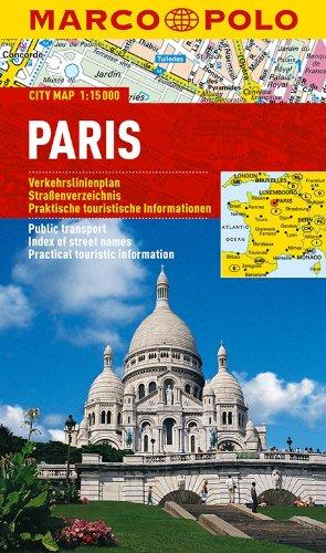9783829730716: MARCO POLO Cityplan Paris 1 : 15 000: Verkehrslinienplan, Straßenverzeichnis, Praktische touristische Informationen
