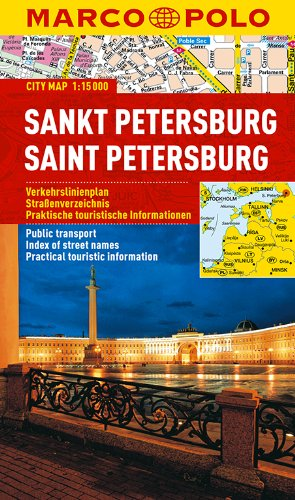 9783829730785: St Petersburg Marco Polo City Map: 1:15K (Russia) (Marco Polo City Maps)