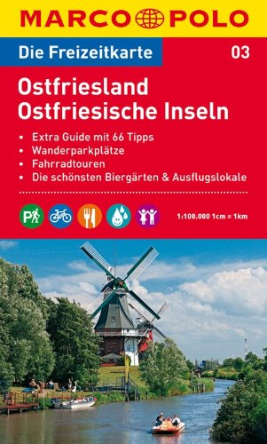 Freizeitkarte Ostfriesland + Guide - guter Zustand - Radegunde Schenk Kern