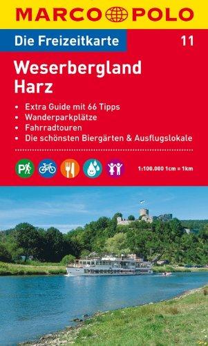 9783829736107: MARCO POLO Freizeitkarte 11 Weserbergland/Harz 1 : 100 000