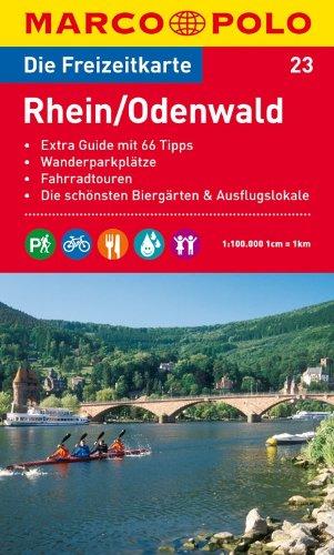 MARCO POLO Freizeitkarte Rhein/Odenwald 1:100.000: Toeristische kaart + gids 1:100 000