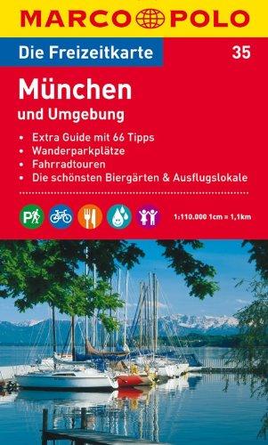 9783829736343: MARCO POLO Freizeitkarte 35 M�nchen und Umgebung 1 : 110 000: Extra Guide mit 66 Tipps. Wanderparkpl�tze. Fahrradtouren. Die sch�nsten Bierg�rten und Ausflugslokale