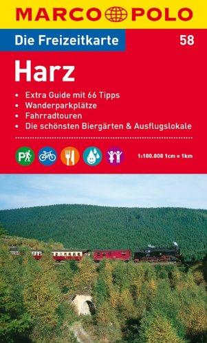 9783829736442: MARCO POLO Freizeitkarte 58 Harz 1 : 100 000