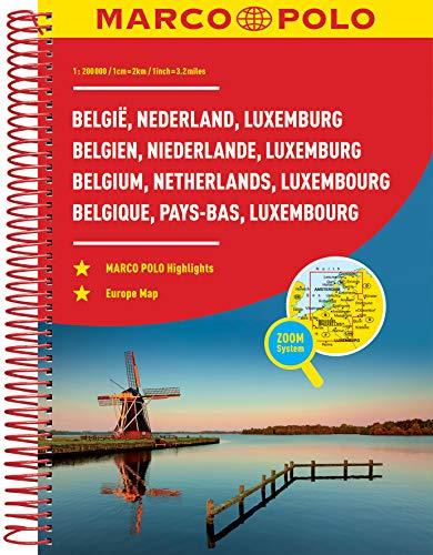9783829737029: Benelux/Belgium/Netherlands/Luxembourg Marco Polo Road Atlas
