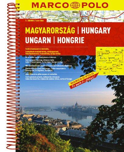 9783829737128: Hungary Marco Polo Road Atlas: 1:300 000