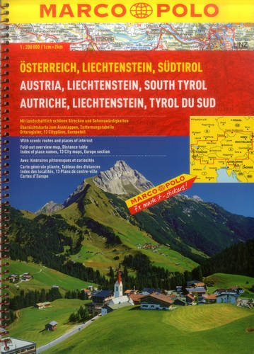 9783829737197: Austria/Liechtenstein/South Tyrol Marco Polo Atlas (Marco Polo Atlases (Multilingual))