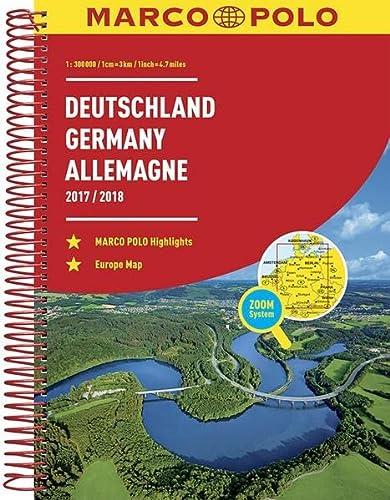 9783829737241: MARCO POLO Reiseatlas Deutschland (1:300 000) Europa (1:4 500 000) 2017/2018