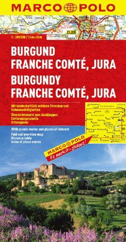 9783829737555: Burgandy Marco Polo Map: 1:300K (France) (Marco Polo Maps)
