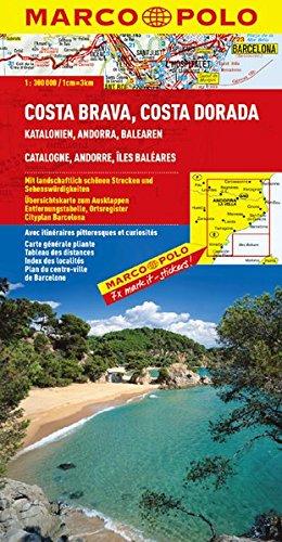 9783829737807: Spanien Costa Brava Costa Dorada Katalonien Andorra Balearen Blatt 4 1:300.000