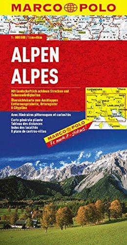 9783829738507: Alpes : 1/800 000
