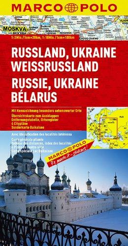 Russia, Ukraine, Belarus Marco Polo Map: 1:2 M / 1:10 M (Marco Polo Maps) - Marco Polo