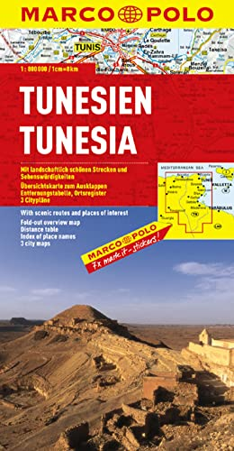 9783829739047: Tunisia Marco Polo Map 2010** (English, French and German Edition)