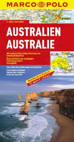 9783829739238: Australia Marco Polo Map (Marco Polo Maps)