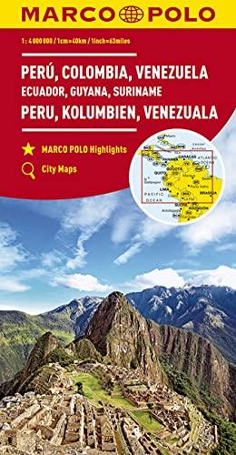 9783829739368: Perou, colombie, venezuela, equateur, guyane, suriname 1 : 4 mio
