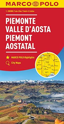 9783829739733: Marco Polo Piëmonte - Aostadal 1: Wegenkaart 1:200 000
