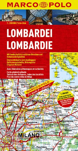9783829740203: MPK I2 Lombardei (1:200.000) (Marco Polo Maps (Multilingual))