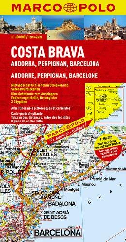 9783829740470: Costa Brava - Andorra, Perpignan, Barcelona Marco Polo Map (Marco Polo Maps)