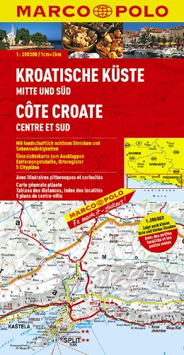 9783829740555: MARCO POLO Karte Kroatische Küste Mitte und Süd 1: 200 000