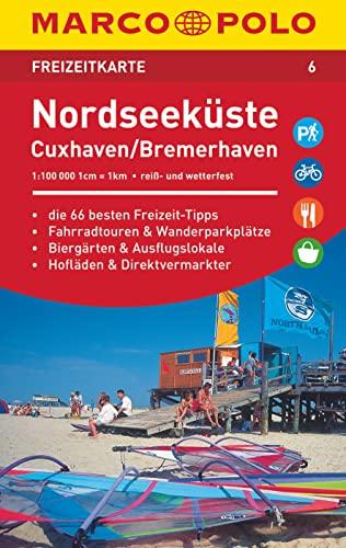 9783829743068: MARCO POLO Freizeitkarte 06 Nordseek�ste, Cuxhaven 1:110 000
