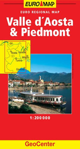 9783829762588: Piedmont and Valle D'Aosta GeoCenter Euro Map