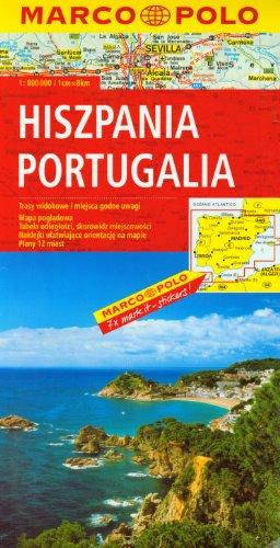 9783829764162: Hiszpania Portugalia mapa drogowa 1:800 000 Marco Polo