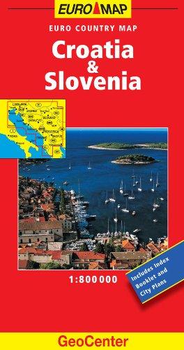 9783829764384: Croatia and Slovenia GeoCenter Euro Map (GeoCenter Maps)