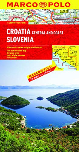 9783829767101: Croatia / Slovenia Marco Polo Map (Marco Polo Maps)