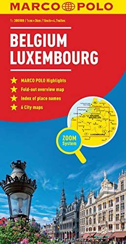 9783829767118: Belgium/Luxembourg Marco Polo Map (Marco Polo Maps)