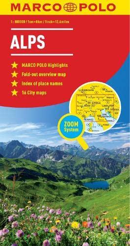 9783829767187: Alps Marco Polo Map (Marco Polo Maps)