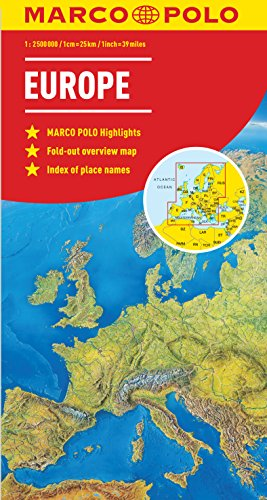 9783829767286: Europe Marco Polo Map (Marco Polo Maps)