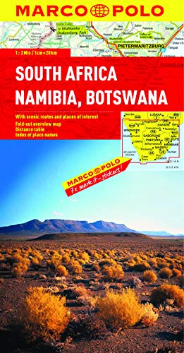 9783829767309: South Africa, Namibia, Botswana Marco Polo Map (Marco Polo Maps)