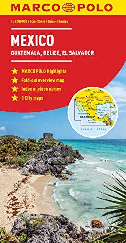 9783829767361: Mexico, Guatemala, Belize, El Salvador Marco Polo Map (Marco Polo Maps)