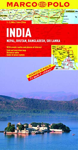 9783829767446: India, Nepal, Bhutan, Bangladesh, Sri Lanka Marco Polo Map (Marco Polo Maps)