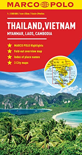 9783829767453: Thailand, Vietnam, Laos, Cambodia Marco Polo Map (Marco Polo Maps) [Idioma Inglés]