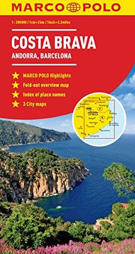 9783829767569: Costa Brava Marco Polo Map (Marco Polo Maps)