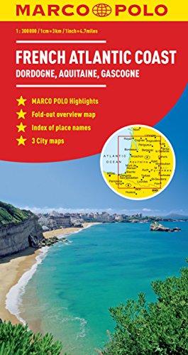 9783829767644: French Atlantic Coast Marco Polo Map (Marco Polo Maps)