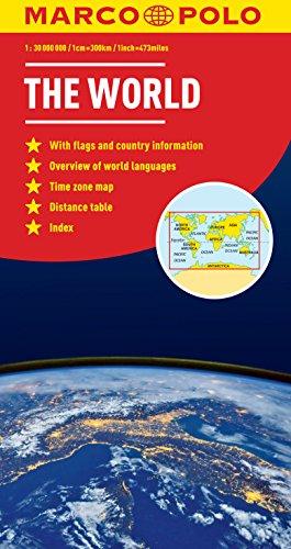 9783829767729: World Marco Polo Map (Marco Polo Maps)
