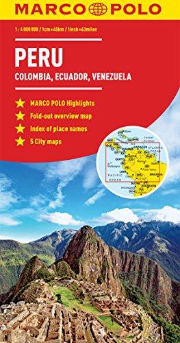 9783829769976: Peru, Colombia, Venezuela Marco Polo Map (Ecuador, Guyana, Suriname) (Marco Polo Guide)