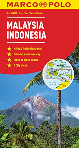 9783829770002: Malaysia, Indonesia Map (Marco Polo Maps)
