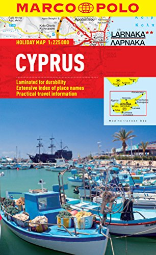Cyprus Marco Polo Holiday Map (Marco Polo Maps): Marco Polo Travel