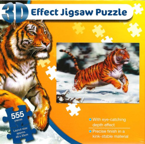 9783829939614: Leaping Tiger- 3D Effect 555 Piece Jigsaw Puzzle