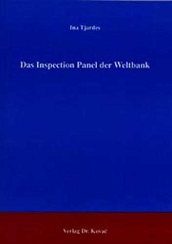 9783830010487: Das Inspection Panel der Weltbank