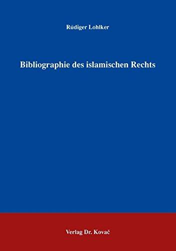 Bibliographie des islamischen Rechts. **** Vor Autor persönlich signiert und mit einer Widmung...