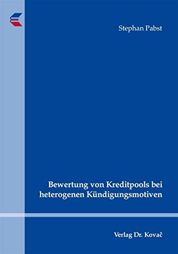 9783830048664: Bewertung von Kreditpools bei heterogenen Kündigungsmotiven