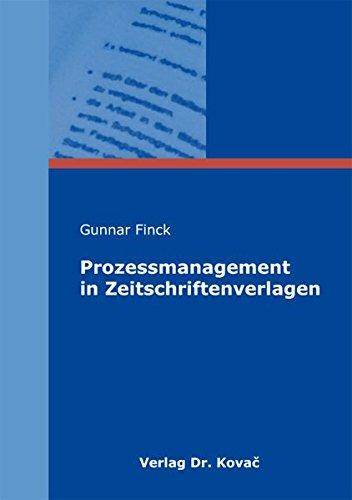 9783830050971: Prozessmanagement in Zeitschriftenverlagen
