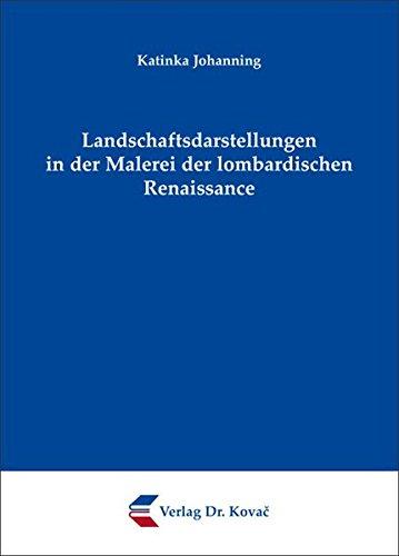 9783830057901: Landschaftsdarstellungen in der Malerei der lombardischen Renaissance